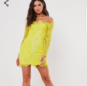 Missguided longsleeve bodycon lace mini dress